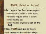 faith belief or action