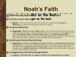 noah s faith