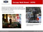 occupy wall street nypd