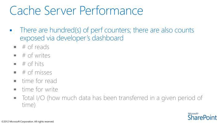 Cache Server Performance