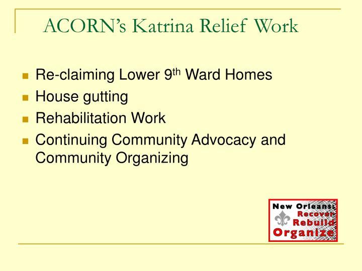 ACORN's Katrina Relief Work