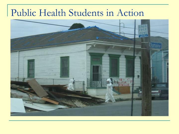 Public Health Students in Action