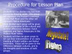 procedure for lesson plan