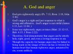 a god and anger