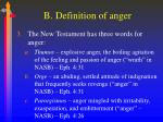 b definition of anger1