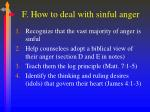 f how to deal with sinful anger