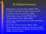 h helpful resources