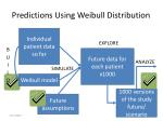 predictions using weibull distribution2