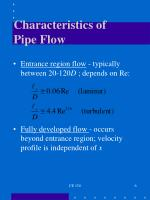 characteristics of pipe flow1