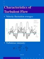characteristics of turbulent flow1