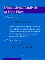dimensional analysis of pipe flow
