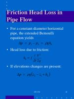 friction head loss in pipe flow