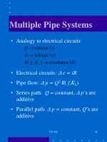 multiple pipe systems