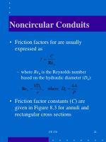 noncircular conduits