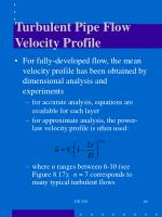 turbulent pipe flow velocity profile