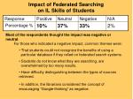 impact of federated searching on il skills of students