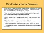 more positive or neutral responses