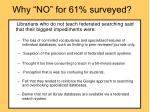 why no for 61 surveyed