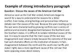 example of strong introductory paragraph