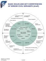 basic roles and key competencies of senior civil servants draft