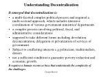 understanding decentralisation