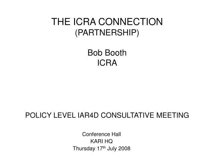 policy level iar4d consultative meeting n.