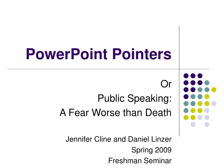 powerpoint pointers n.