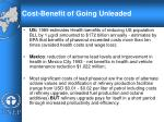 cost benefit of going unleaded