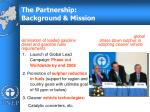 the partnership background mission