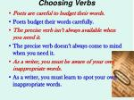 choosing verbs