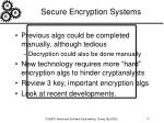 secure encryption systems