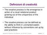 definizioni di creativit