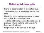definizioni di creativit1
