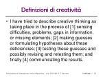 definizioni di creativit2