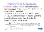 efficiency and redundancy1