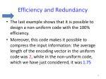 efficiency and redundancy5