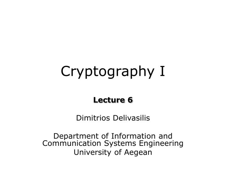 cryptography i n.