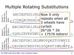 multiple rotating substitutions1
