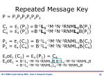 repeated message key