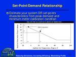 set point demand relationship