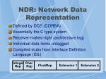 ndr network data representation