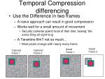 temporal compression differencing