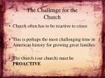 the challenge for the church1