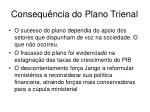 consequ ncia do plano trienal
