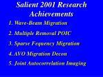 salient 2001 research achievements4