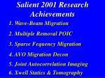 salient 2001 research achievements5