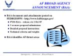 af broad agency announcement baa