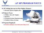 af mp program focus