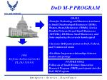 dod m p program