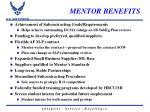 mentor benefits